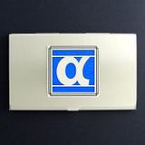 Alpha Greek Letter Business Card Case