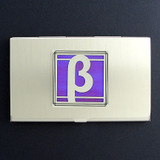Beta Greek Letter Business Card Holder