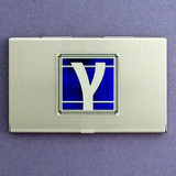 Gamma Greek Letter Business Card Cases