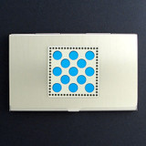 Polka Dots Business Card Holder in Silver