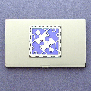 Puzzle Piece Business Card Holder