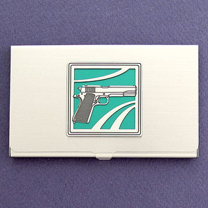 Handgun Business Card Holders