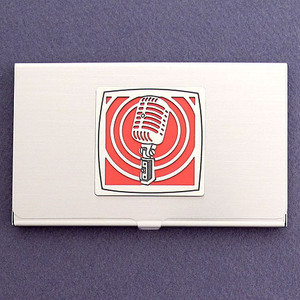 Microphone Business Card Holder