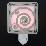 Stained Glass Spiral Night Light