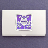 Scottish Thistle Business Card Case