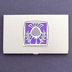 Scottish Thistle Business Card Case