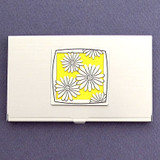 Daisy Flower Business Card Case