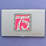 Fashionable Number 75 Business Card Case