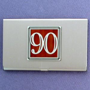 Number 90 Business Card Case