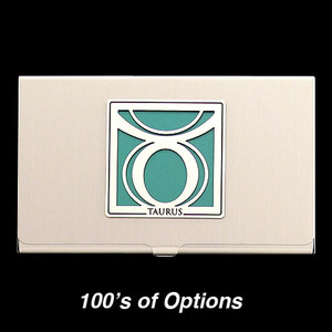 Taurus Sign Business Card Case