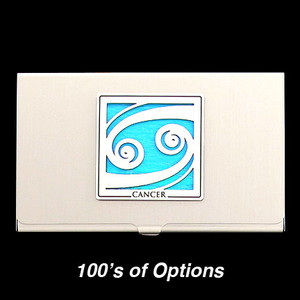 Cancer Sign Business Card Case