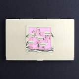 Cool Pink Flamingo Business Card Cases