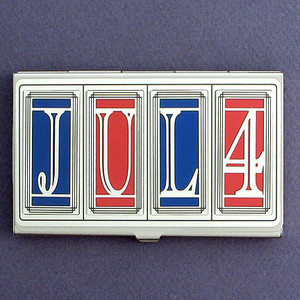 4th of July Business Card Cases