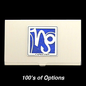 Capricorn Sign Business Card Cases