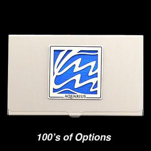 Aquarius Sign Business Card Cases