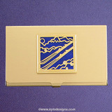 Skier Business Card Case