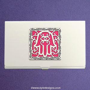 Good Fortune Hamsa Business Card Case