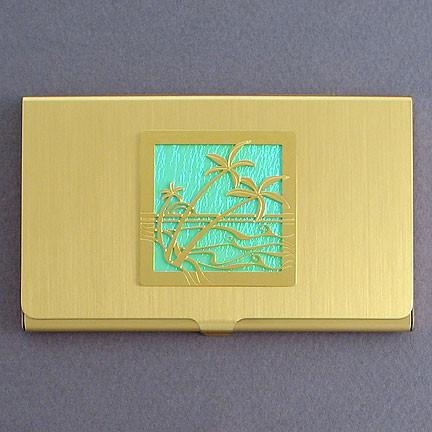 Palm trees business card holder kyle design palm trees business card holder colourmoves