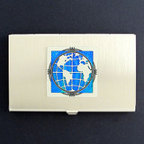 Globe Business Card Holder Cases