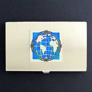 Globe Business Card Holder Cases
