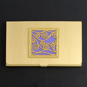 Vine Pattern Business Card Holder