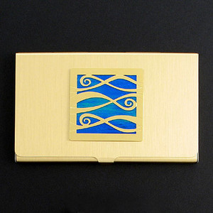 Ribbony Waves Business Card Holder