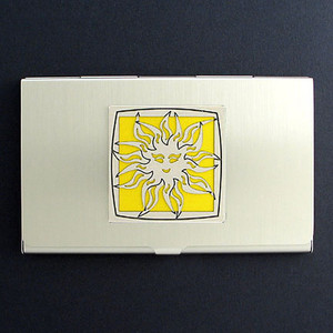Sun Business Card Holder