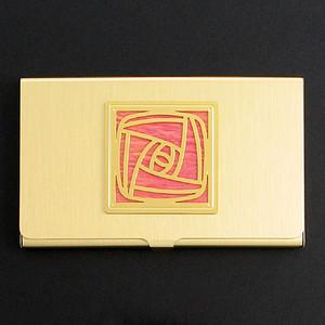 Craftsman Rose Business Card Holder
