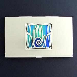 Hand Business Card Holder Case