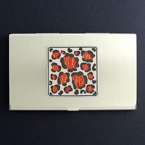 Leopard Print Business Card Case