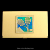 Tennis Business Card Holders