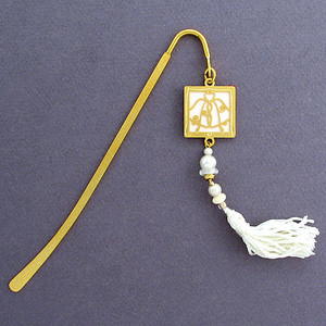 Wedding Hook Bookmark with Beaded Tassel