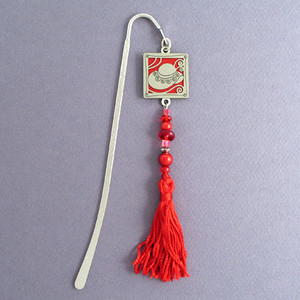 Hat Hook Bookmark with Beaded Tassel
