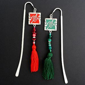 Art Nouveau Hook Bookmark with Beaded Tassel