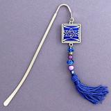 Jewish Star Beaded Hook Bookmark with Beaded Tassel