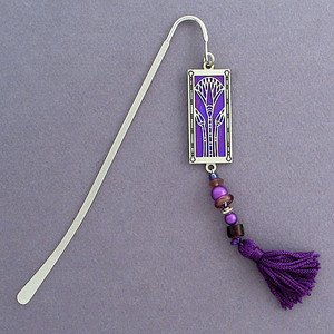 Egyptian Lotus Bookmark with Beads