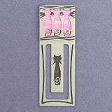 Cats Metal Bookmark