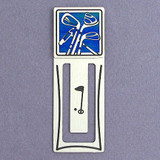 Personalized Golf Bookmark - Silver & Blue
