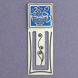 Engraved Coffee Bookmark - Silver & Blue
