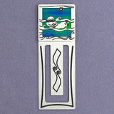 Sea Otter Metal Bookmark