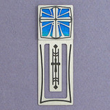 Personalized Christian Bookmark - Silver & Blue