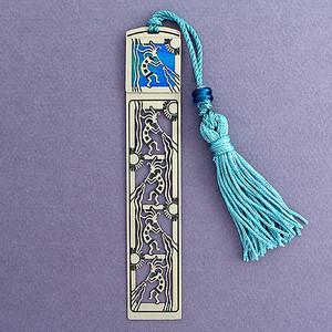 Kokopelli Long Tasseled Bookmark