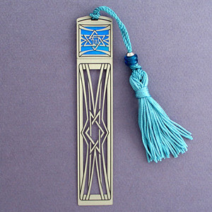 Jewish Star of David Long Bookmark