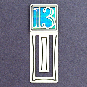 13th Engraved Bookmark