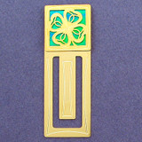 Four Leaf Clover Engraved Bookmark