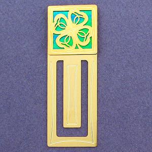 Four Leaf Clover Engraved Bookmark