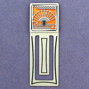 Asian Hand Fan Engraved Bookmarks