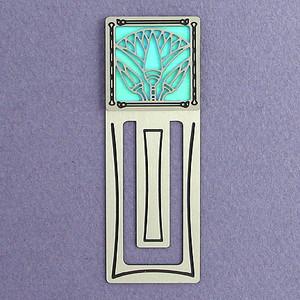 Egyptian Lotus Engraved Bookmark