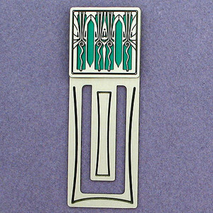 Retro Art Deco Engraved Bookmark