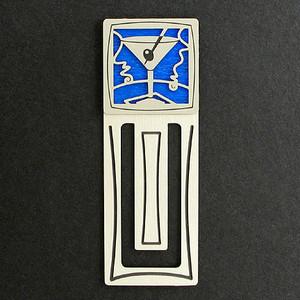 Martini Engraved Bookmark
